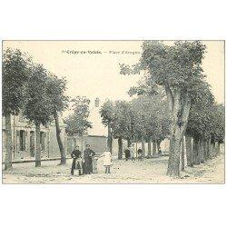 carte postale ancienne 60 CREPY-EN-VALOIS. Place d'Aragon 1906