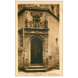 carte postale ancienne 60 CREPY-EN-VALOIS. Porte Escalier Maison de la Rose 1937