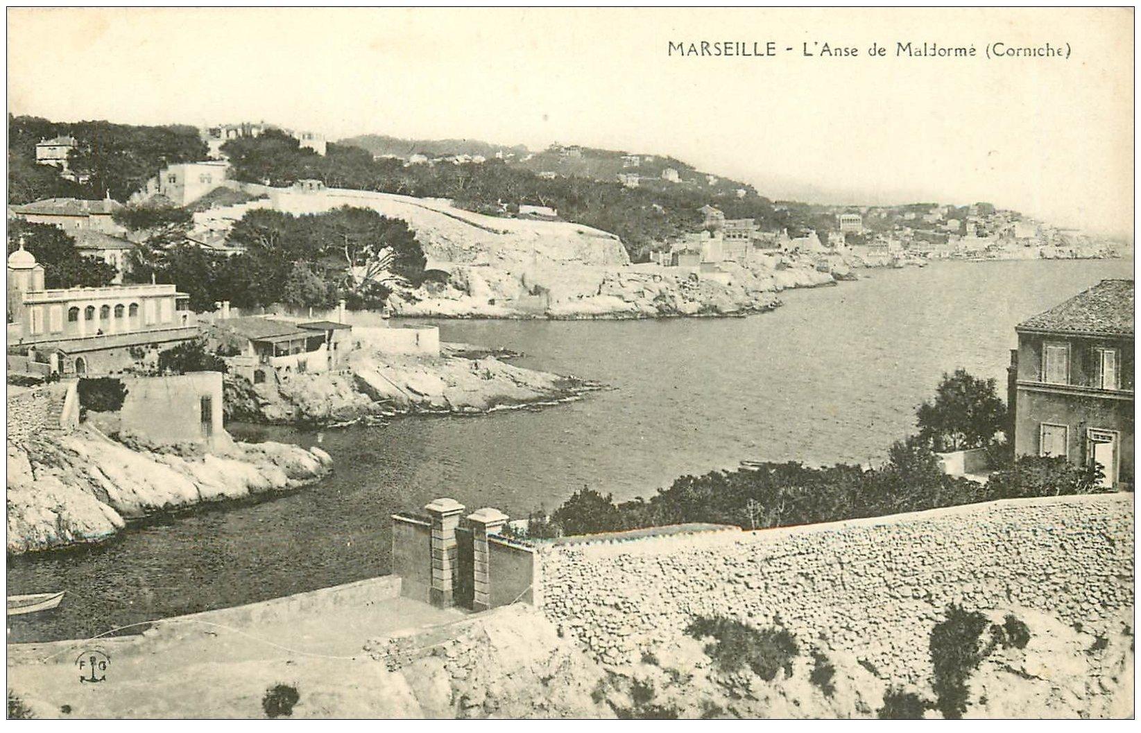 carte postale ancienne 13 MARSEILLE. Anse de Maldorme