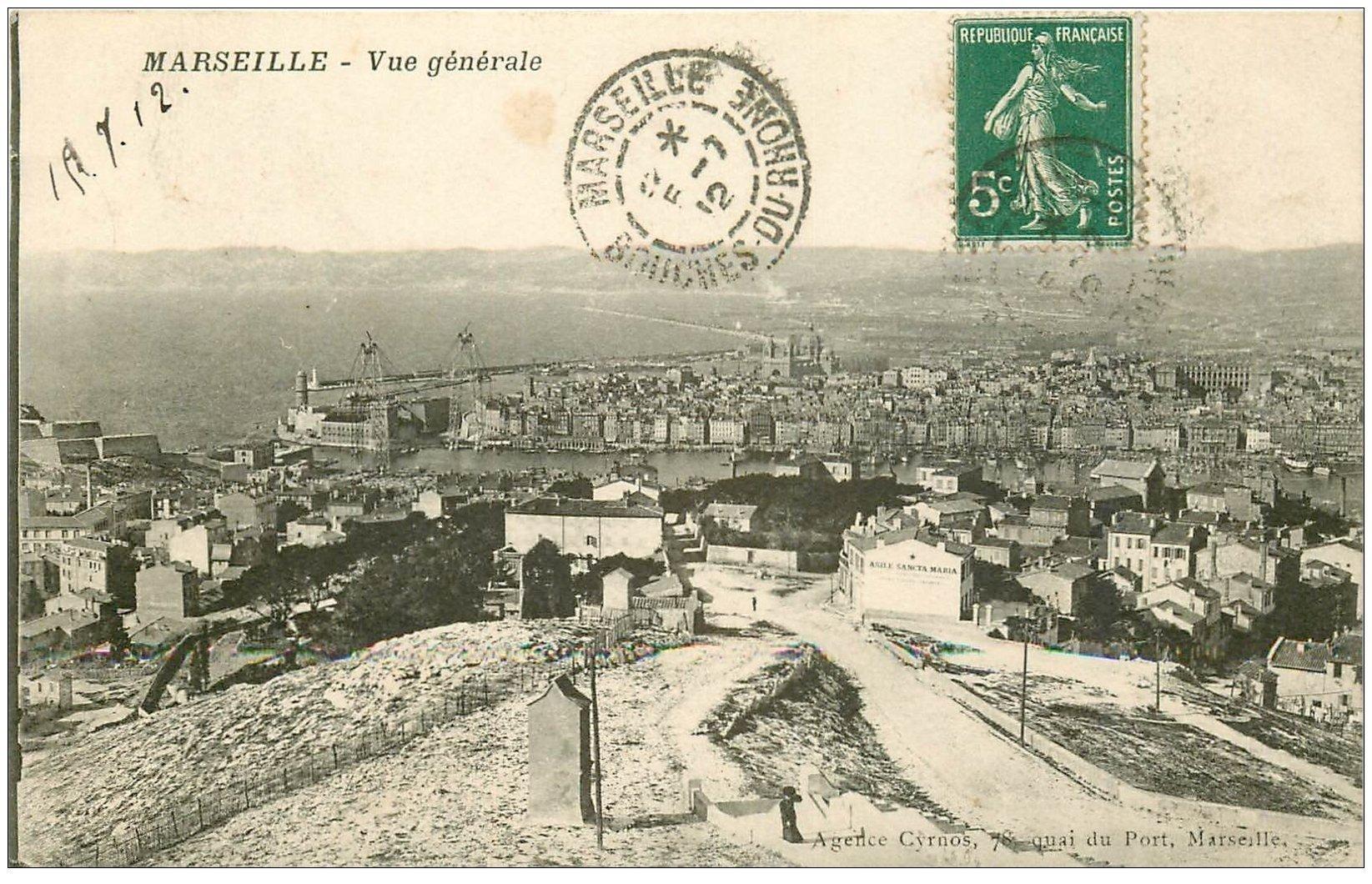 carte postale ancienne 13 MARSEILLE. Asile Santa Maria 1912