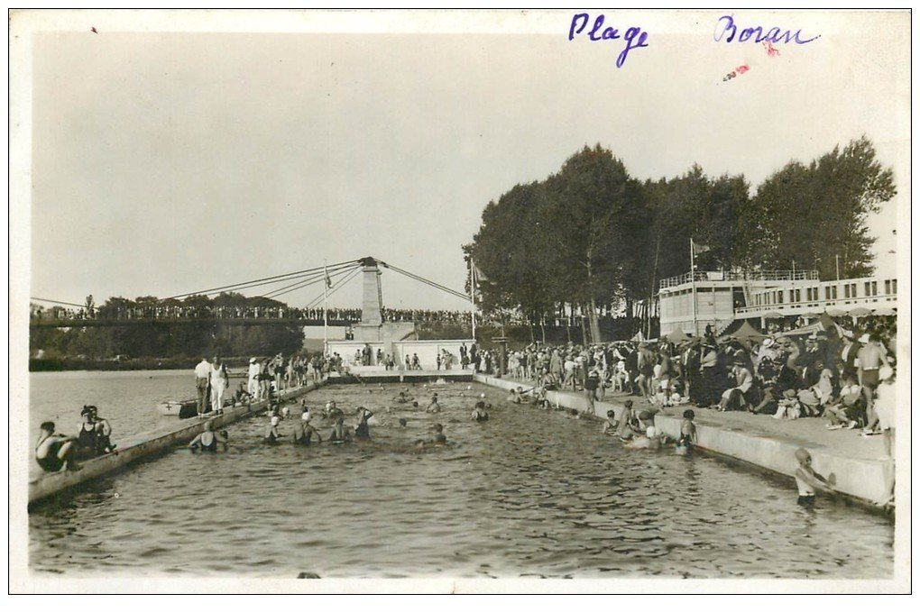 60 lys chantilly boran plage et piscine carte photo for Piscine chantilly