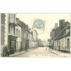 carte postale ancienne 60 MERU. Boutique Carpentier Rue Nationale vers 1907