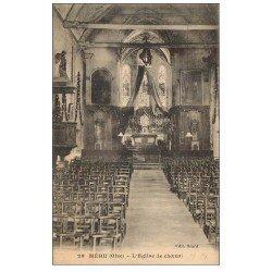 carte postale ancienne 60 MERU. Choeur de l'Eglise