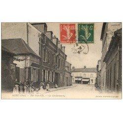 carte postale ancienne 60 MERU. La Gendarmerie Rue Patronale 1918