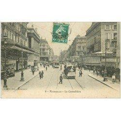 carte postale ancienne 13 MARSEILLE. Cannebière 1909