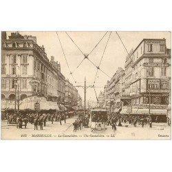 carte postale ancienne 13 MARSEILLE. Cannebière 1922