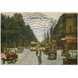 carte postale ancienne 13 MARSEILLE. Cannebière 1938 Canebière