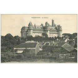 carte postale ancienne 60 PIERREFONDS. Château et fourrages pour Chevaux 1917