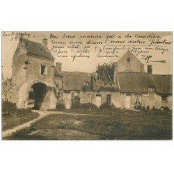 carte postale ancienne 60 PIERREFONDS. Cour Ferme de Saint-Jean au Bois 1906