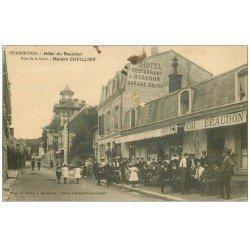 carte postale ancienne 60 PIERREFONDS. Hôtel du Beaudon Rue de la Gare Restaurant