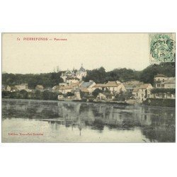 carte postale ancienne 60 PIERREFONDS. Panorama 1907