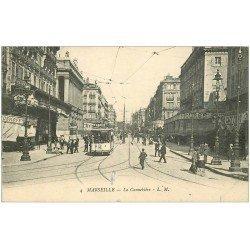 carte postale ancienne 13 MARSEILLE. Cannebière L.M 4