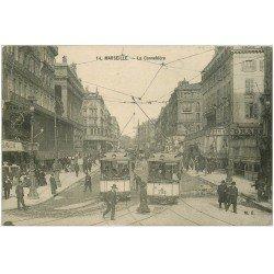carte postale ancienne 13 MARSEILLE. Cannebière n° 14