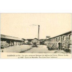 carte postale ancienne 13 MARSEILLE. Carénou Fabrique de réglisse. Cour de l'Usine