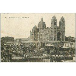 carte postale ancienne 13 MARSEILLE. Cathédrale 1911