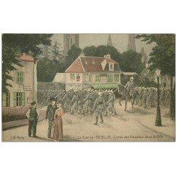 carte postale ancienne 60 SENLIS. Entrée des Prussiens dans la Ville et Octroi. Edition l'Hoste