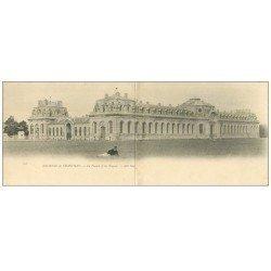 carte postale ancienne CHANTILLY 60. La Venerie et Ecurie. Carte double panoramique vers 1900 vierge