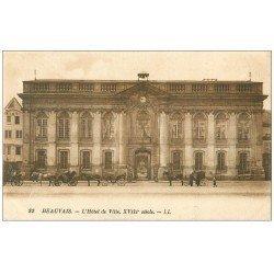 carte postale ancienne Superbe Lot 10 Cpa BEAUVAIS 60. Hôtel de Ville, Palais de Justice, Gare, Horloge Astronomique etc...