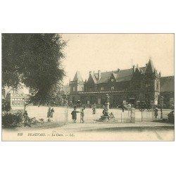 carte postale ancienne Superbe Lot 10 Cpa BEAUVAIS 60. La Gare, Palais de Justice, Etablissement Pères et Frères etc...