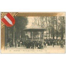 carte postale ancienne Superbe Lot 10 Cpa BEAUVAIS 60. Musique Place Jeu de Paume, Gare, Musée etc...