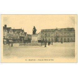 carte postale ancienne Superbe Lot 10 Cpa BEAUVAIS 60. Place Hôtel de Ville, Théâtre, Square de la Gare, Palais Justice etc...