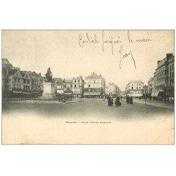 carte postale ancienne Superbe Lot 10 Cpa BEAUVAIS 60. Place Jeanne Hachette, Rue Feutrier, Préfecture, Palais Evêché etc...