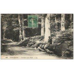 carte postale ancienne Superbe Lot 10 Cpa COMPIEGNE 60. Homme en Forêt, Régiment Spahis sur Pont, Péniche Lavoir etc...