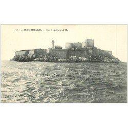 carte postale ancienne 13 MARSEILLE. Château d'If 22