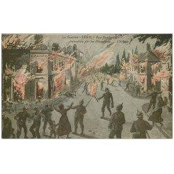 carte postale ancienne Superbe Lot 10 Cpa CREIL 60. Rue Gambetta, Grotte Ermite Cricri, Bureau Octroi, Pont détruit etc...
