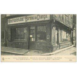 carte postale ancienne Superbe Lot 8 Cpa NOYON 60. Bureau de Change, Gare, Gendarmerie, Grand'Place, Musée Calvin etc...