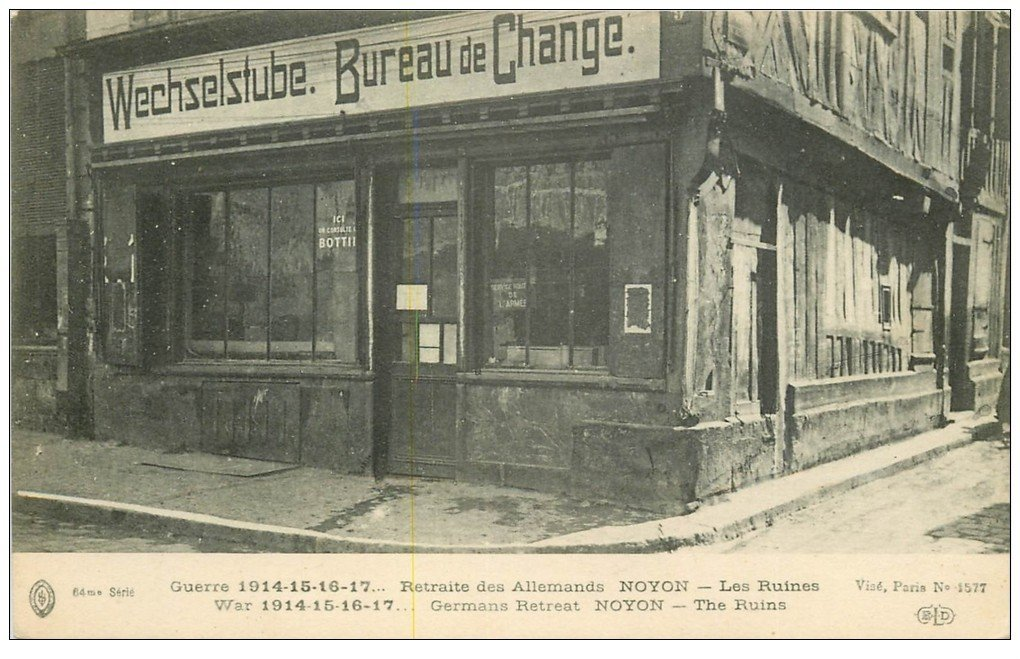 Superbe lot 8 cpa noyon 60 bureau de change gare gendarmerie grand 39 place mus e calvin etc - Bureau change gare de l est ...