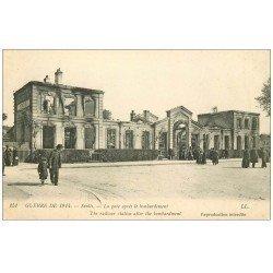 Superle lot 10 Cpa 60 SENLIS. Gare, Braves Gens, Hôtel au Point du Jour Place Saint-Martin, Tombe, Rue République etc...