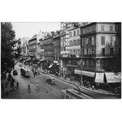 """carte postale ancienne 13 MARSEILLE. Cinéma """"""""Le Petit Marseillais"""""""" sur la Canebière. Carte photo"""