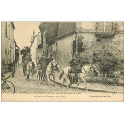 carte postale ancienne Superle lot 10 Cpa 60 SENLIS. Patrouille de Chasseurs, Restaurant, Rue Bellon, Gare, Hôtel du Nord etc...