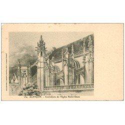carte postale ancienne 61 ALENCON. Contreforts Eglise Notre-Dame