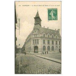 carte postale ancienne 61 ALENCON. Hôtel des Postes rue du Jeudi 1915