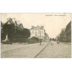 carte postale ancienne 61 ALENCON. Rue de Bretagne 1910