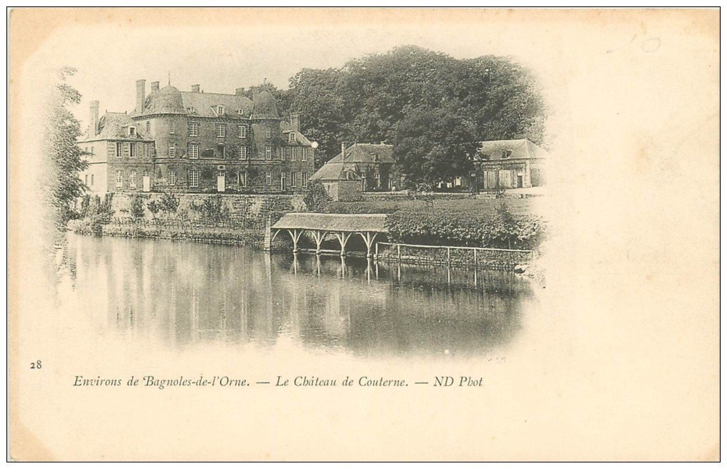 61 BAGNOLES-DE-L'ORNE environs  Château de Couterne vers 1900