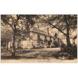 carte postale ancienne 61 BAGNOLES-DE-L'ORNE. Tessé-la-Madeleine. Hôtel Le Manoir du Lys. Carte Tarifs publicitaire