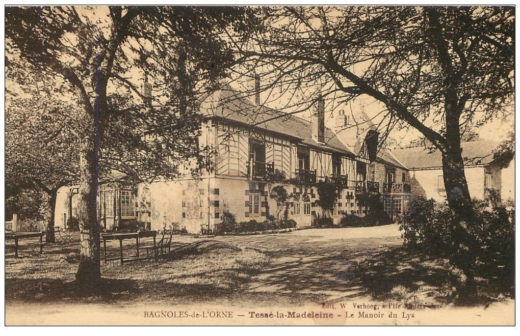 61 BAGNOLES-DE-L'ORNE  Tessé-la-Madeleine  Hôtel Le Manoir du Lys  Carte  Tarifs publicitaire