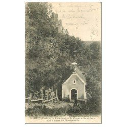 carte postale ancienne 61 BATILLY. Chapelle Saint-Roch et Château Mesnil-Glaise 1906 animation