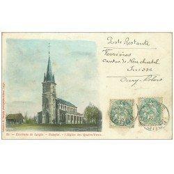 carte postale ancienne 61 BEAUFAI. Eglise des Quatre-Vents 1906