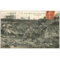 carte postale ancienne 61 BEAUVOISINE. Les Carrières de Granit 1911