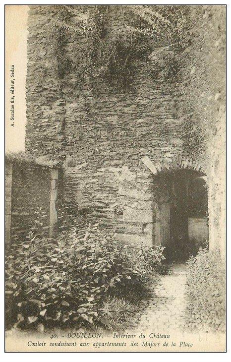 carte postale ancienne 61 BOUILLON. Château-Fort. Couloir aux appartements des Majors