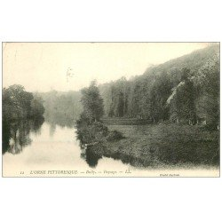 carte postale ancienne 61 BULLY. Paysage 1913