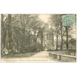 carte postale ancienne 61 CARROUGES. Le Château 1906 Entrée dit le Chatelet