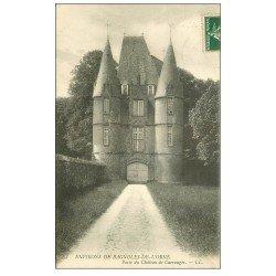 carte postale ancienne 61 CARROUGES. Le Château 1908 Porte