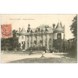 carte postale ancienne 61 CHATEAU DE GOURNAY 1906 avec Jardinier (Laigle)