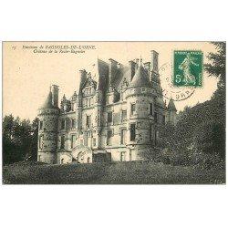 carte postale ancienne 61 CHATEAU DE LA ROCHE-BAGNOLES 1910
