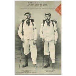 13 MARSEILLE. Délégués Association Estropiés Français 1907. Rosin et Carlier. Marseille Paris Lille- Reims Amiens